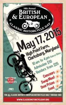 British & European Classic Motorcycle Day 2015 @ High Point Farm | Clarksburg | Maryland | United States
