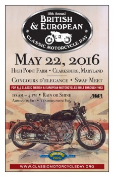 British & European Classic Motorcycle Day 2016 @ High Point Farm | Clarksburg | Maryland | United States